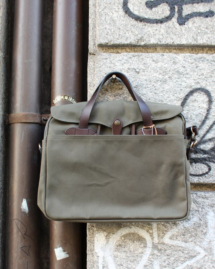 Filson Original Briefcase Rugged twill otter green_1