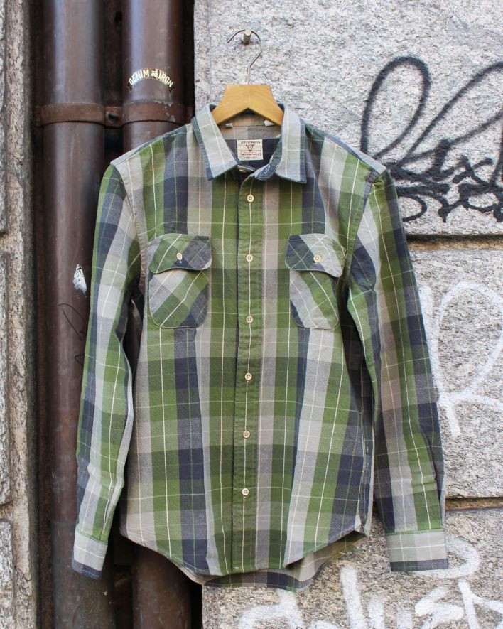 LVC 1950 Shorthorn Flannel Hemd grau grün kariert_1