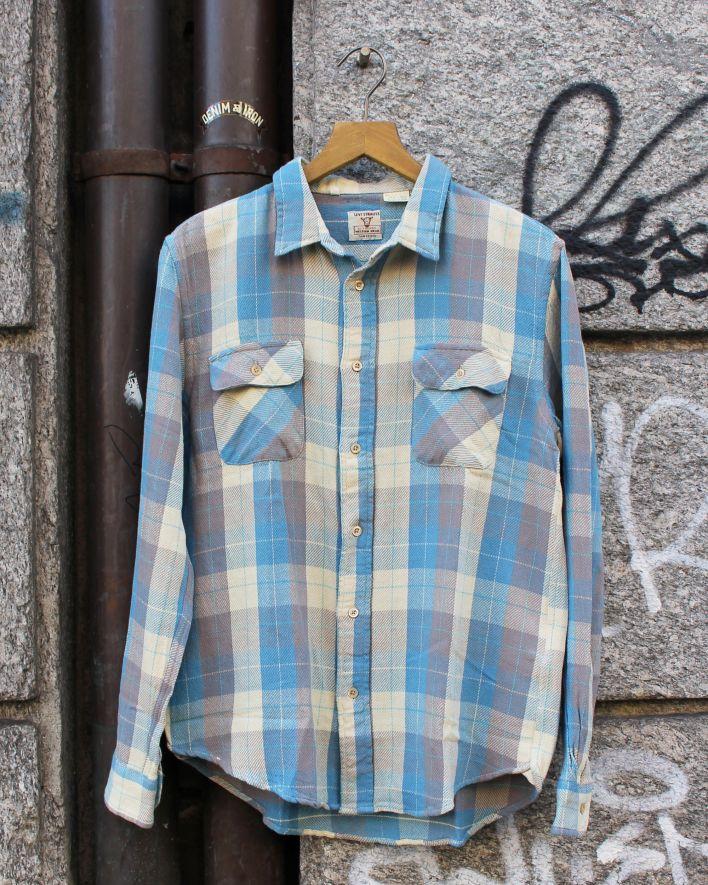 LVC 1950 Shorthorn Shirt blau kariert_1