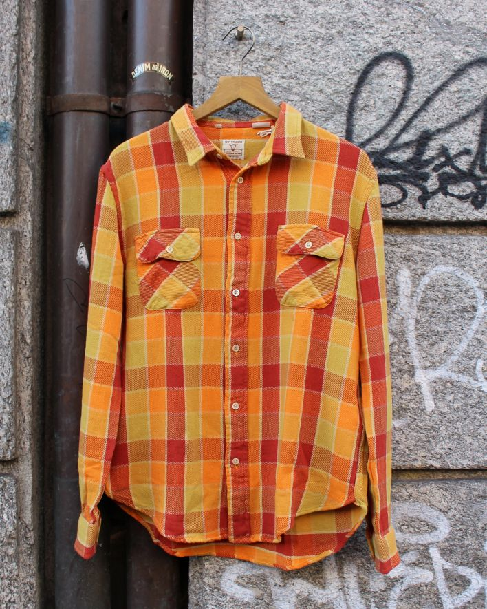 LVC 1950 Shorthorn Shirt orange rot kariert_1