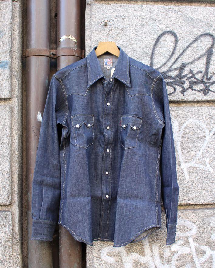 LVC Levi's Vintage 1955 Sawthoot Denim Shirt 7oz rigid_1