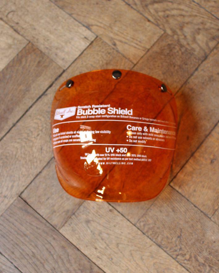 Biltwell Bubble Shield amber solid 1 korr