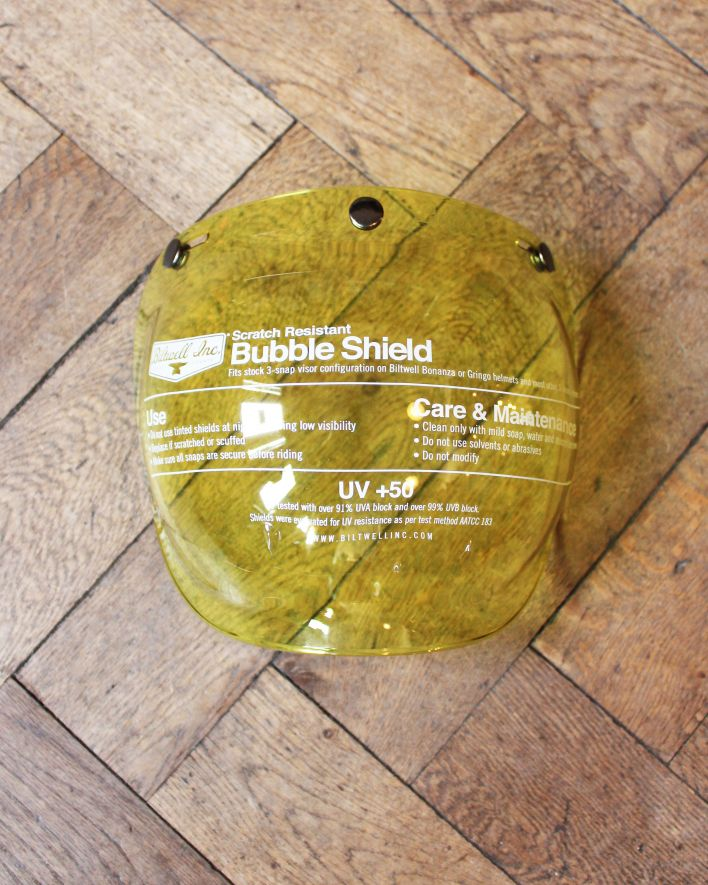 Biltwell Bubble Shield yellow 1