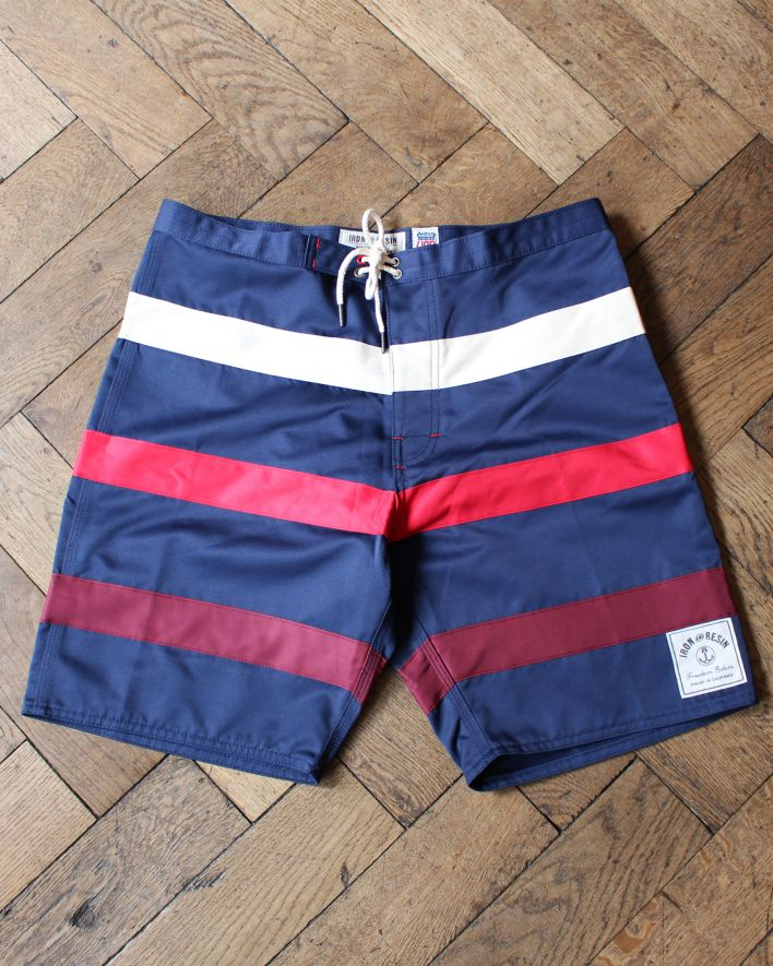 IRONANDRESIN REVIVAL BOARDSHORTS STRIPES NAVY1