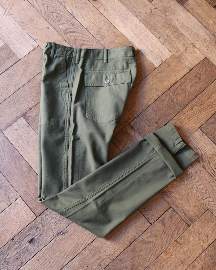 Tellason Fatigue Pants olive_2
