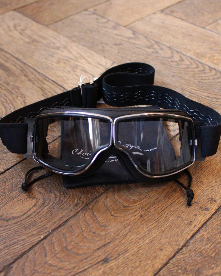 Aviator Goggle schwarz chrom_1