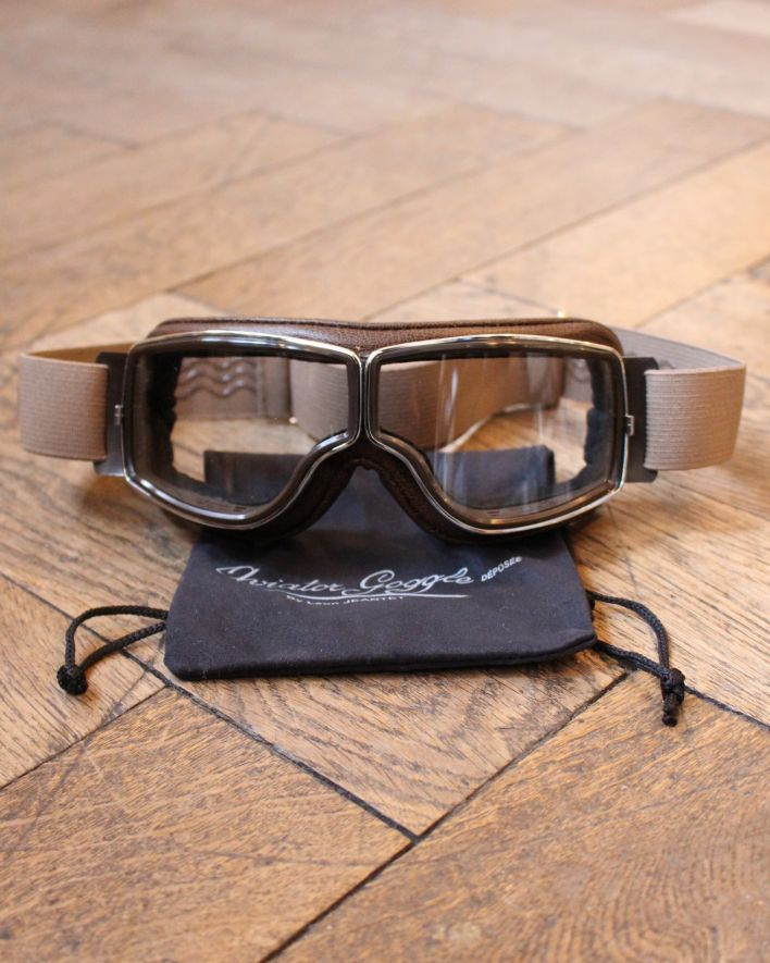 Aviator Goggles T2 brown chrom 1