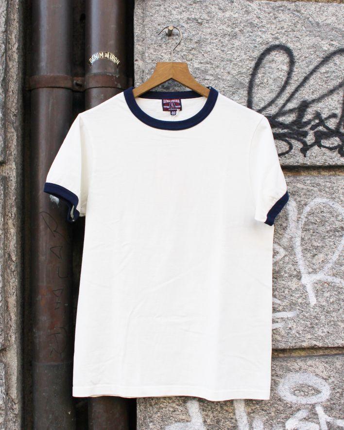 E.L.M.C Ringer no.1 T-Shirt ecru_1