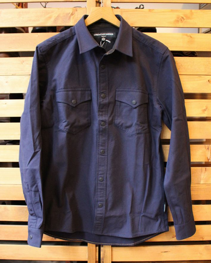 Wrenchmonkees Coated Shirt blue 1