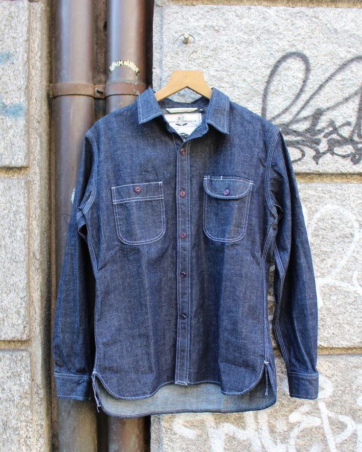 Rogue Territory Work Shirt Neppy Denim rinsed_1