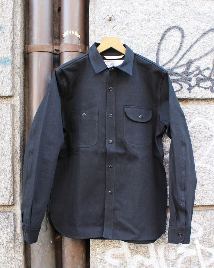 Rogue Territory Workshirt 11 oz Denim Selvage stealth_1