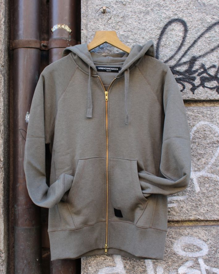Wrenchmonkees Zip Hoodie dusty olive_1