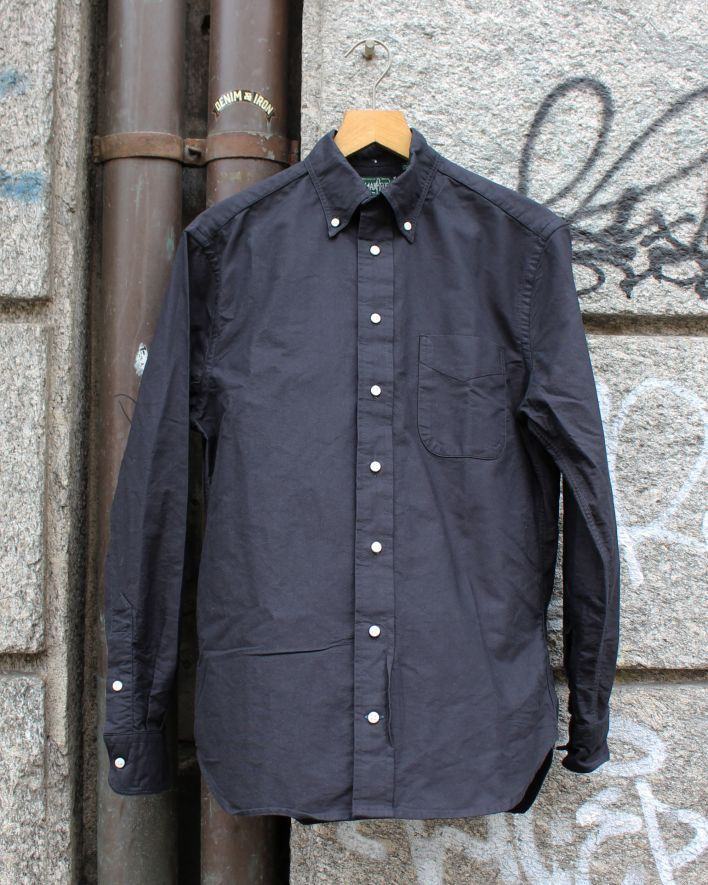 Gitman Vintage Oxford Shirt black overdyed_1
