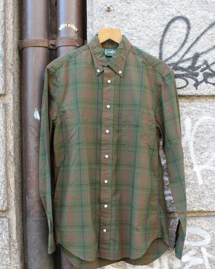 Gitman Brothers Vintage Archive Brushed Poplin olive_1