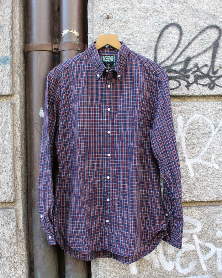 Gitman Brothers Vintage Archive Mini Tartan navy_1