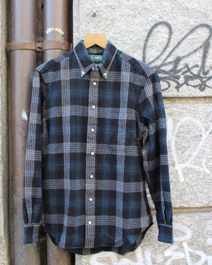 Gitman Brothers Vintage Brushed Japanese Flannel black plaid_1