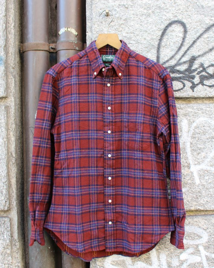 Gitman Brothers Vintage Brushed Japanese Flannel red plaid_1