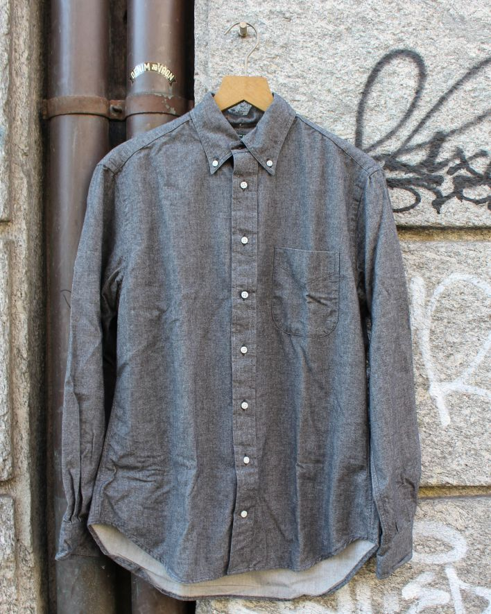 Gitman Brothers Vintage Flannel Chambray Shirt black_1