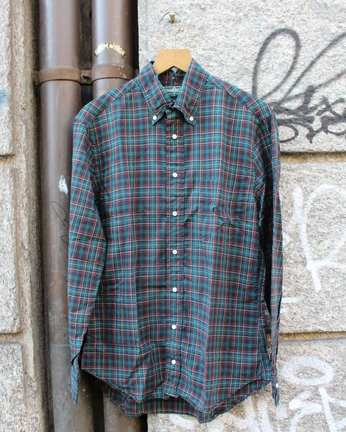 Gitman Brothers Vintage Green Neat Plaid_1