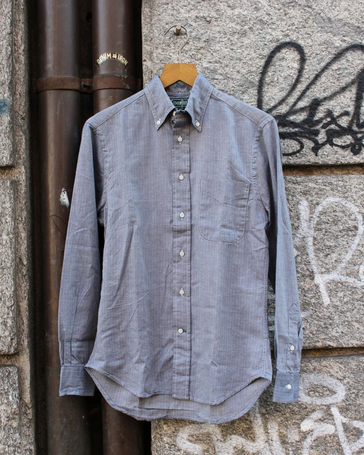 Gitman Vintage Mini Bone Japanese Flanell Shirt navy_1.1
