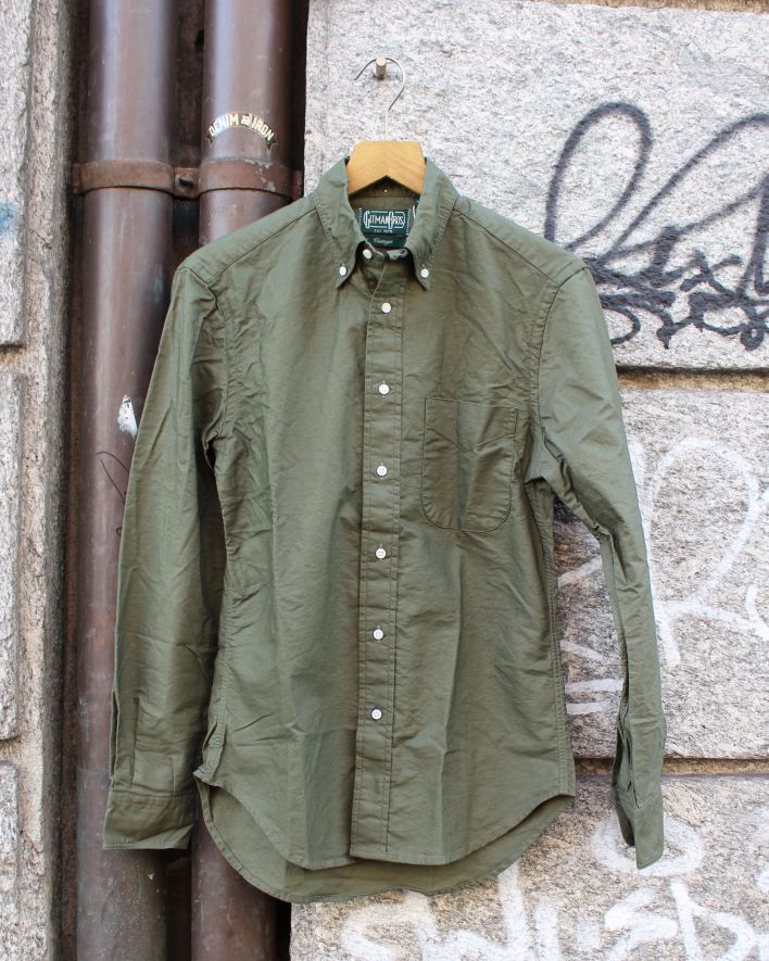 Gitman Vintage Oxford Shirt olive_1