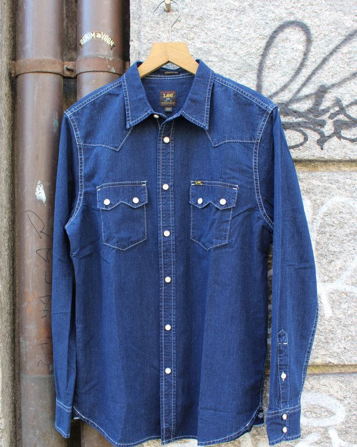 Lee 101 Rider Shirt Western Hemd shady ink_1