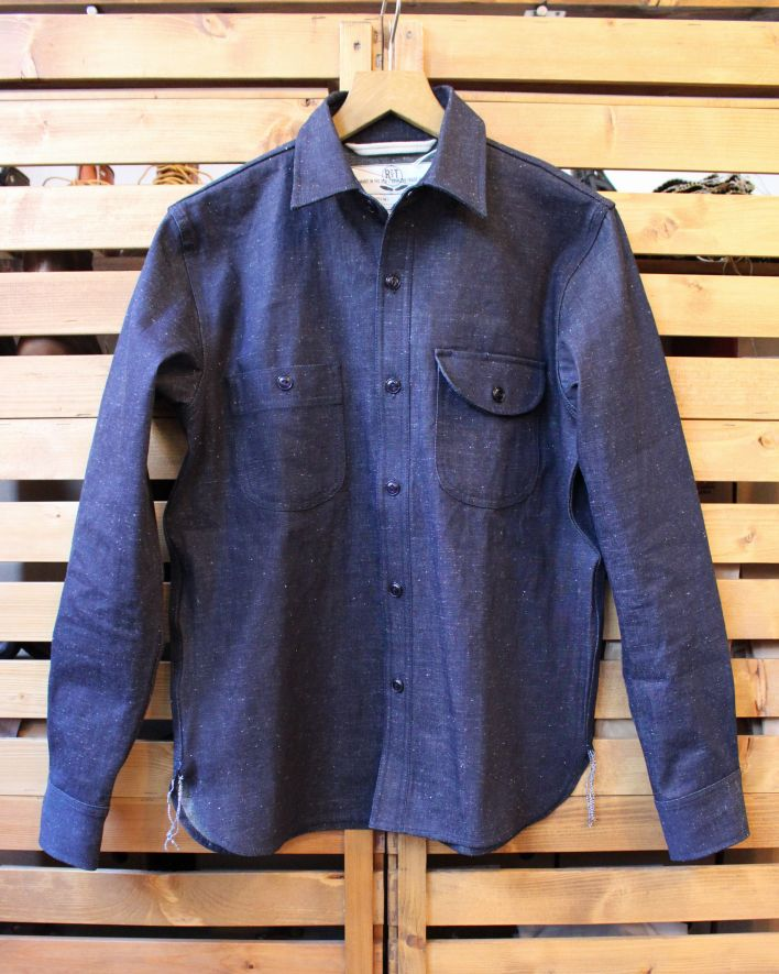 Rogue Territory Work Shirt Raw Neppy Denim 1
