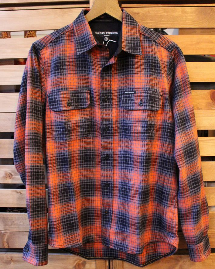 Wrenchmonkees Checked Shirt orange 1