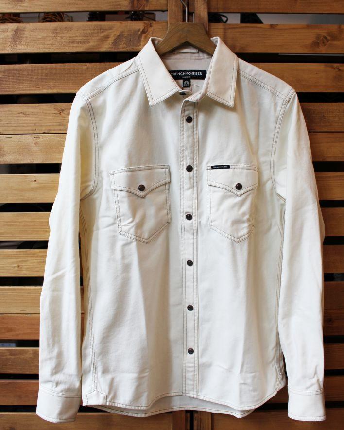 Wrenchmonkees Coated Shirt ecru 1