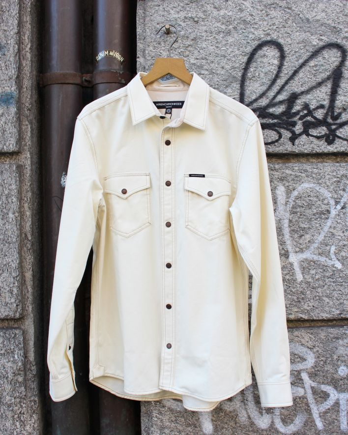 Wrenchmonkees Coated Shirt ecru_1