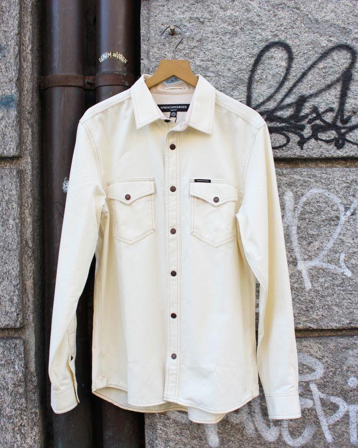 Wrenchmonkees Coated Shirt ecru_1