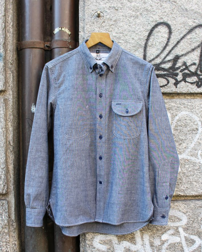 Rogue Territory Jumper Shirt chambray blau_1