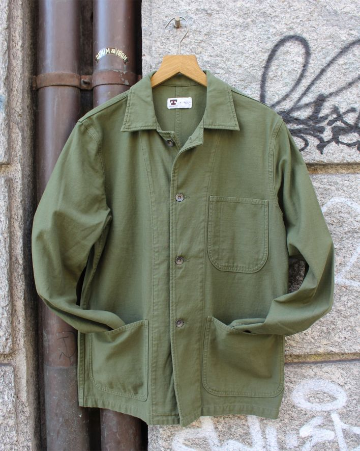 Tellason Fatigue Jacket olive 1