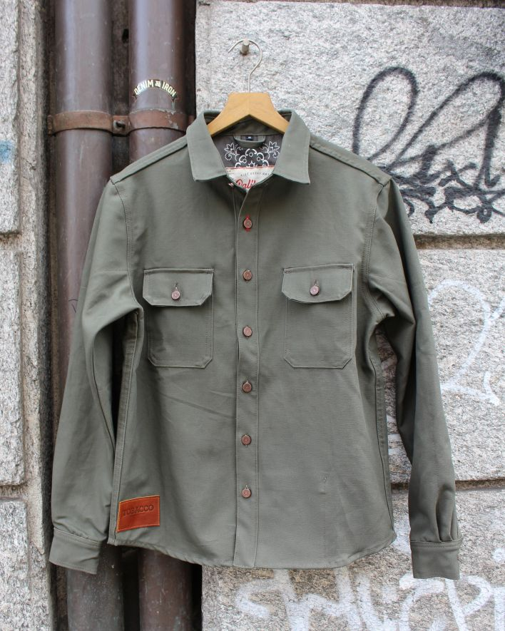 Tobacco California Riding Shirt Kevlar moss _1