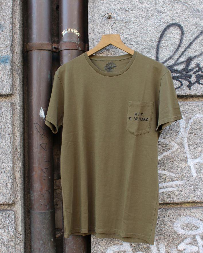 El Solitario Lobo T-Shirt olive_1.1