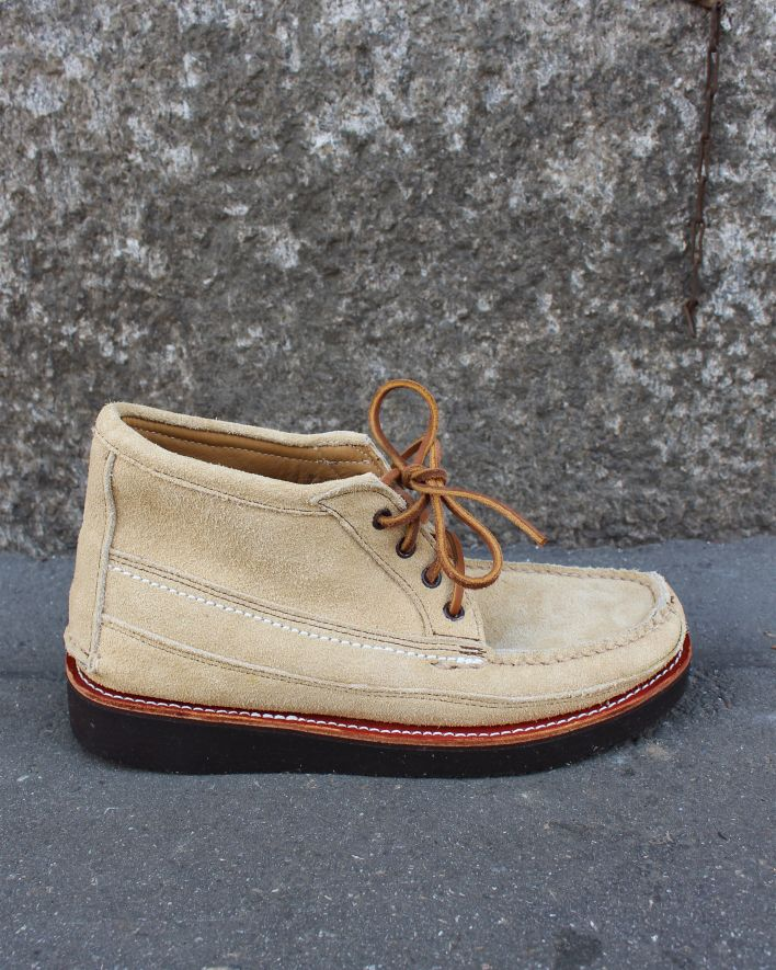 Maine Moccassin Scout Boot sand suede_1