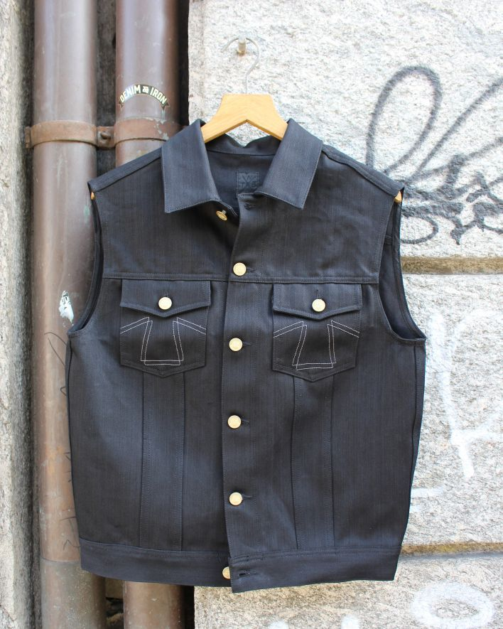 Eat Dust Denim Vest bloodline_1