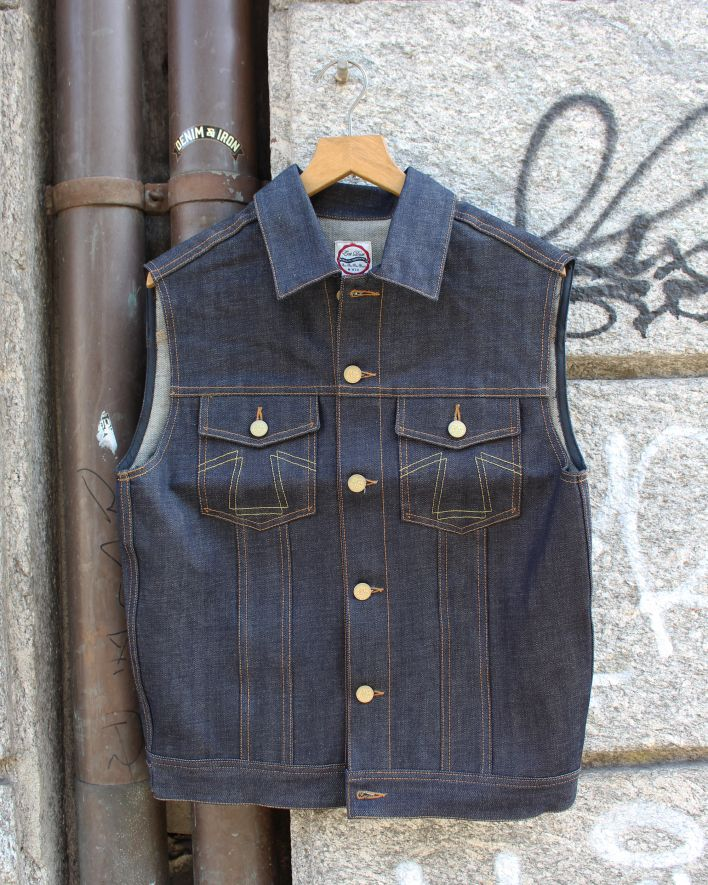 Eat Dust Denim Vest indigo_1