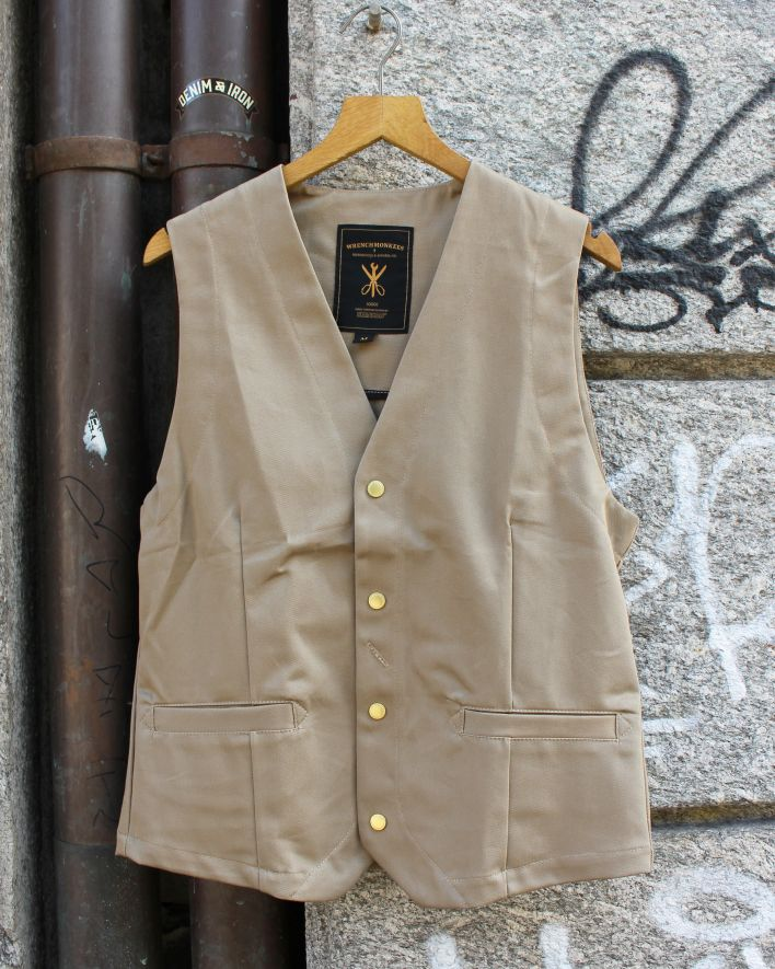 Wrenchmonkees Indoor Waistcoat khaki_1