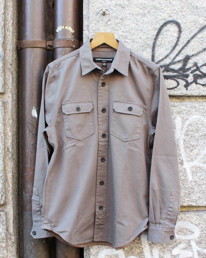 Wrenchmonkees Work Shirt olive_1