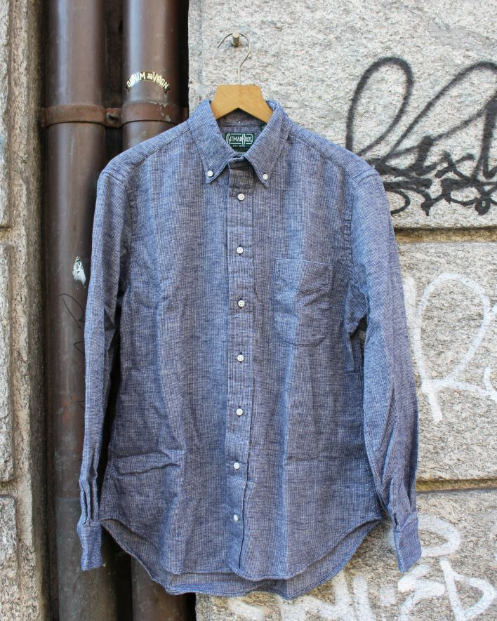 Gitman Brothers Vintage Thermal Shirt indigo_1