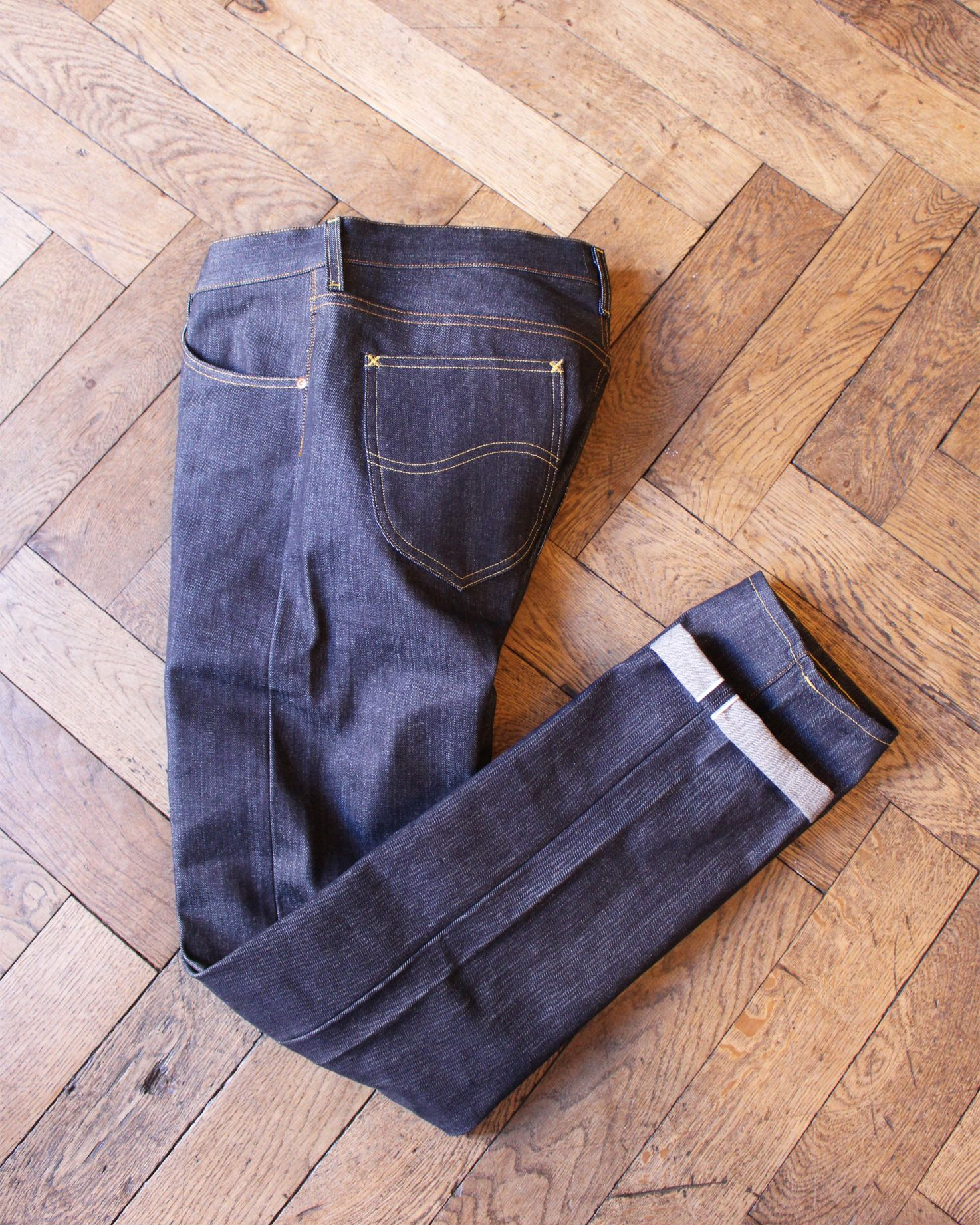 """101 S"" 13.75 oz. Slim Tapered Selvedge Jeans raw"