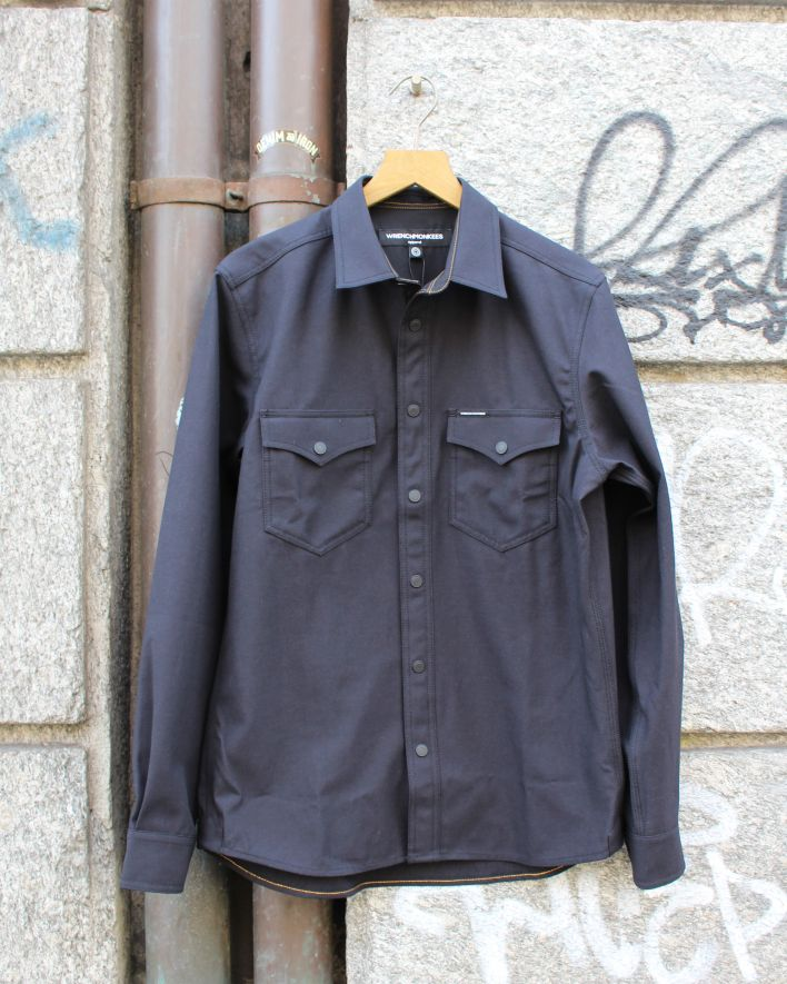 Wrenchmonkees Coated Twill Shirt black_1