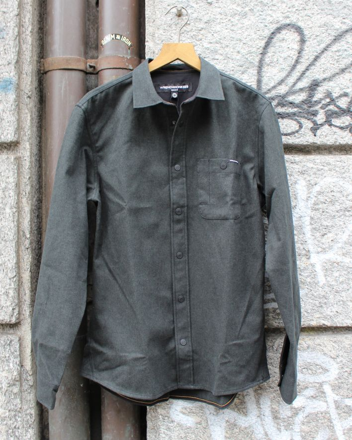 Wrenchmonkees Solid Flannel peat_1