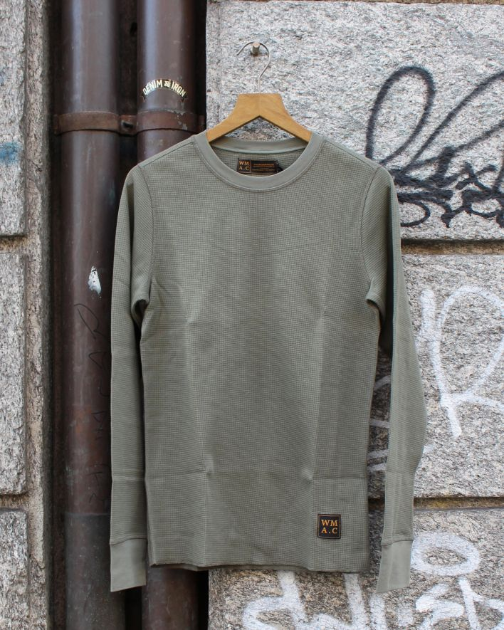 Wrenchmonkees Waffel Tee dusty olive_1