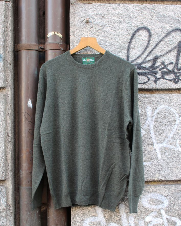Alan Paine Melfort Crew Neck Cashmere Sweater grün_1