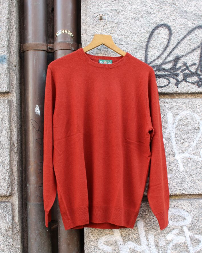 Alan Paine Melfort Crew Neck Cashmere Sweater rot_1