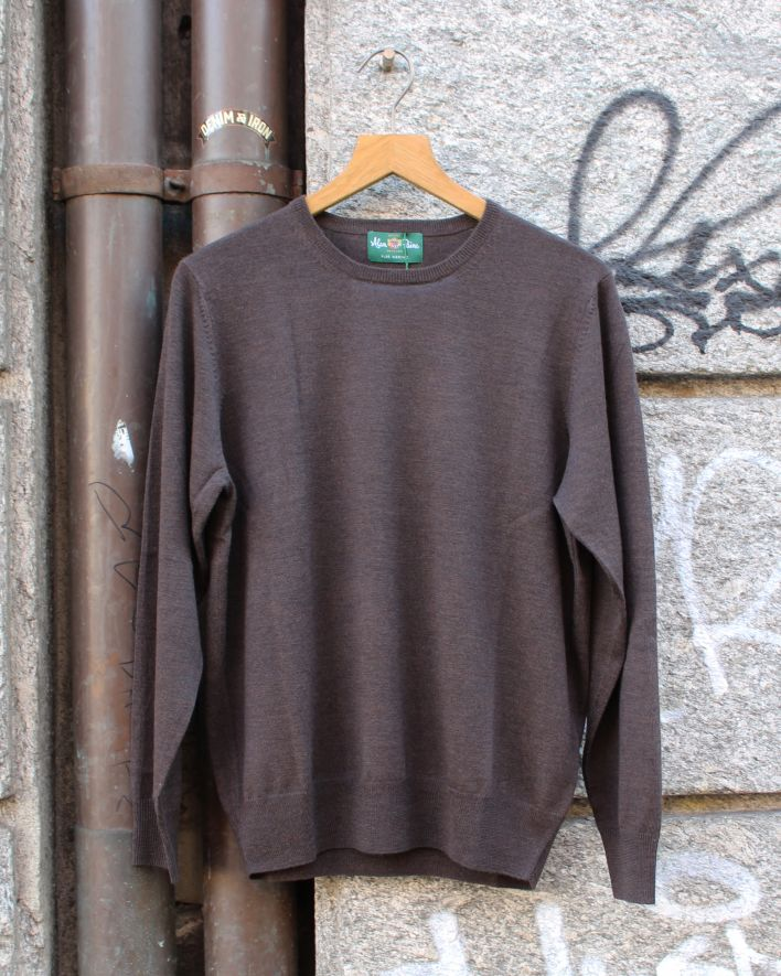 Alan Paine Radstone Crew Neck Merino Sweater braun_1