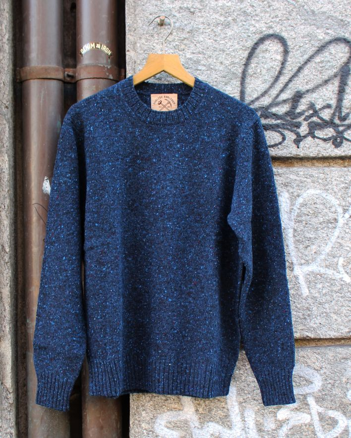 Alan Paine Strone Donegal glyde Wool Sweater blau_1