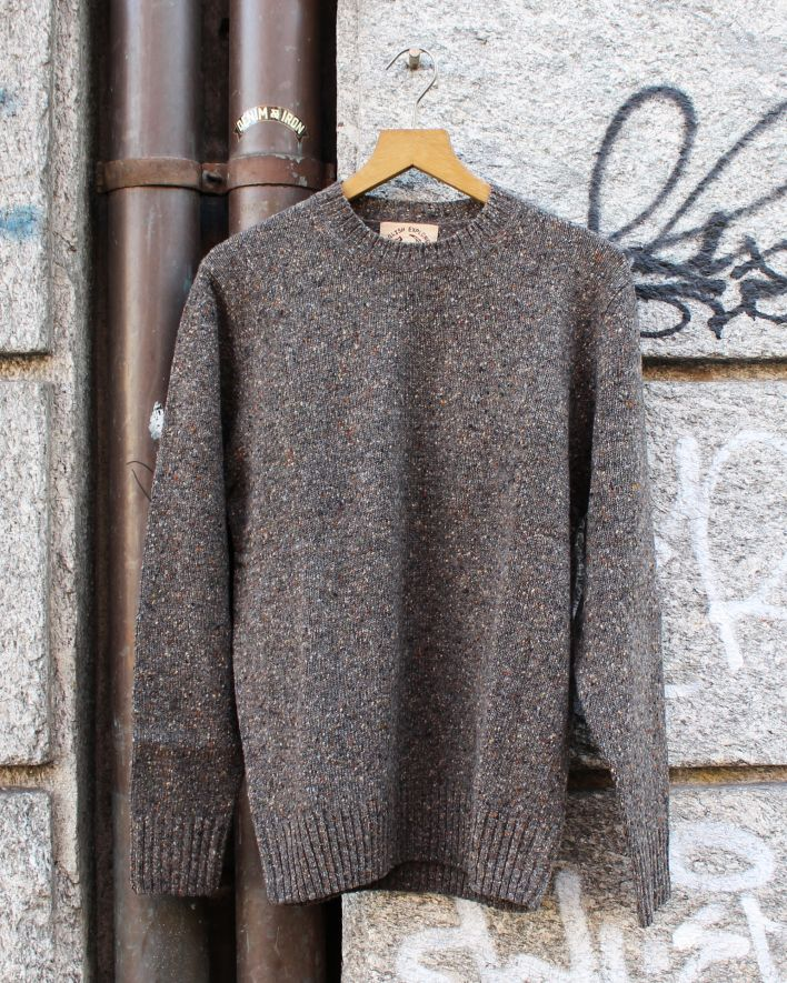 Alan Paine Strone Donegal macean Wool Sweater braun_1